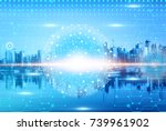 digital and connection concept  ... | Shutterstock . vector #739961902
