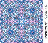 seamless oriental ornamental... | Shutterstock .eps vector #739963342