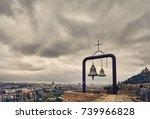 old medieval castle narikala...   Shutterstock . vector #739966828