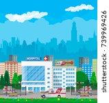 hospital building  medical icon.... | Shutterstock .eps vector #739969426