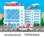 hospital building  medical icon.... | Shutterstock .eps vector #739969606