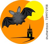halloween inllustration with... | Shutterstock .eps vector #739971958