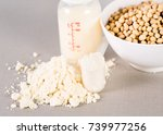 close up soy milk powder for... | Shutterstock . vector #739977256