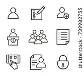 Registration Vector Icons Set....