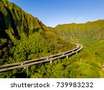 "Small photo of Kualoa Ranch in Oahu, Hawaii. Many famous television shows and movies, including ""Jurassic Park"" and ""Lost"" were filmed in Kualoa Ranch. Also famous stairs to Heaven or Haiku stairs cliffs."