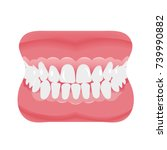 jaw with teeth icon flat style. ...   Shutterstock .eps vector #739990882