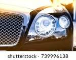 Luxury Car Head Lamp On Blurred ...
