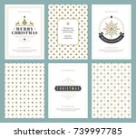 merry christmas greeting cards... | Shutterstock .eps vector #739997785