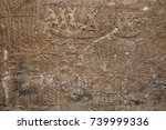 ancient assyrian stone carving...   Shutterstock . vector #739999336