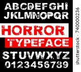 handcrafted vector abc alphabet ... | Shutterstock .eps vector #740000236