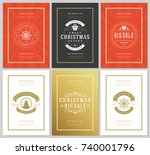 christmas sale flyers or... | Shutterstock .eps vector #740001796