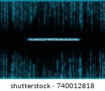 falling blue numbers with... | Shutterstock .eps vector #740012818