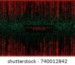 error in program code listing ...   Shutterstock .eps vector #740012842
