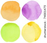 watercolor hand painted circle... | Shutterstock . vector #74001475