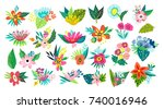 vector big amazing set of... | Shutterstock .eps vector #740016946