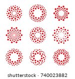 round shape  abstract vector... | Shutterstock .eps vector #740023882