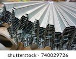 the metal sheet through cold... | Shutterstock . vector #740029726