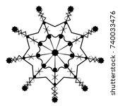 snowflake isolated on white... | Shutterstock .eps vector #740033476