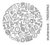 round design element with... | Shutterstock .eps vector #740033962
