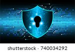 safety concept  closed padlock...   Shutterstock .eps vector #740034292