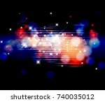 winter bokeh background. | Shutterstock . vector #740035012
