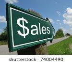 Sales Signpost Along A Rural...