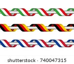 colored ribbon with the italian ...   Shutterstock .eps vector #740047315