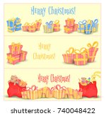 set of banners for website and... | Shutterstock .eps vector #740048422