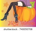 halloween card | Shutterstock .eps vector #740050708
