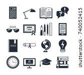 education icons vector set... | Shutterstock .eps vector #740052415