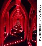mirror maze   Shutterstock . vector #740055886