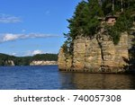 Beautiful Upper Wisconsin Dells Cliffs and Canyons