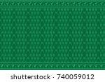 geometric ethnic pattern... | Shutterstock .eps vector #740059012