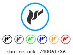 flora abstraction rounded icon. ... | Shutterstock .eps vector #740061736