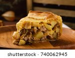 Homemade Chicken Meat Pie With...