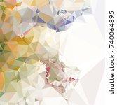 geometric low polygonal... | Shutterstock .eps vector #740064895