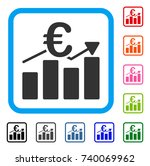 euro business bar chart icon.... | Shutterstock .eps vector #740069962