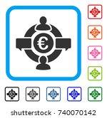 euro social network icon. flat... | Shutterstock .eps vector #740070142