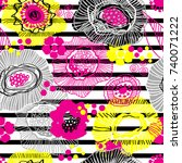 vector seamless pattern with... | Shutterstock .eps vector #740071222