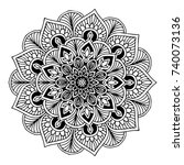 mandalas for coloring book.... | Shutterstock .eps vector #740073136