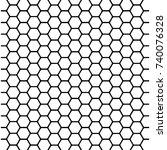honeycomb wallpaper. black... | Shutterstock .eps vector #740076328