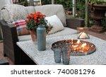 outdoor seating arrangement... | Shutterstock . vector #740081296