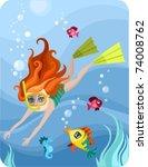 diver   Shutterstock .eps vector #74008762