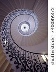 Small photo of Tulip Stairs, Greenwich, U.K., 2016. The iconic Tulip Stairs in Queen's House, Greenwich, were built in the 17th century and were the first geometric self-supporting spiral stairs in Britain.