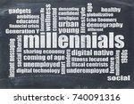 millennials generation word...   Shutterstock . vector #740091316