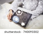 medical doctor working with... | Shutterstock . vector #740093302
