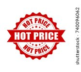 hot price grunge rubber stamp.... | Shutterstock .eps vector #740096062