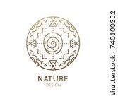 vector logo of nature abstract... | Shutterstock .eps vector #740100352