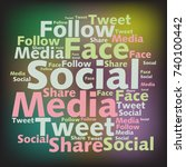 text cloud. social media...   Shutterstock .eps vector #740100442