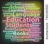 text cloud. education wordcloud....   Shutterstock .eps vector #740100502
